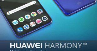 Ilustrasi gambar ponsel Huawei dengan OS Harmony (Istimewa)