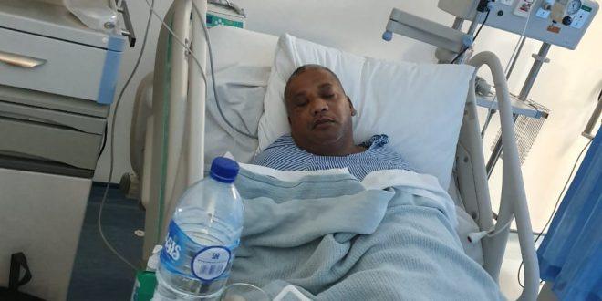 Markus Karel Senen terbaring di RS Siloam (Istimewa)